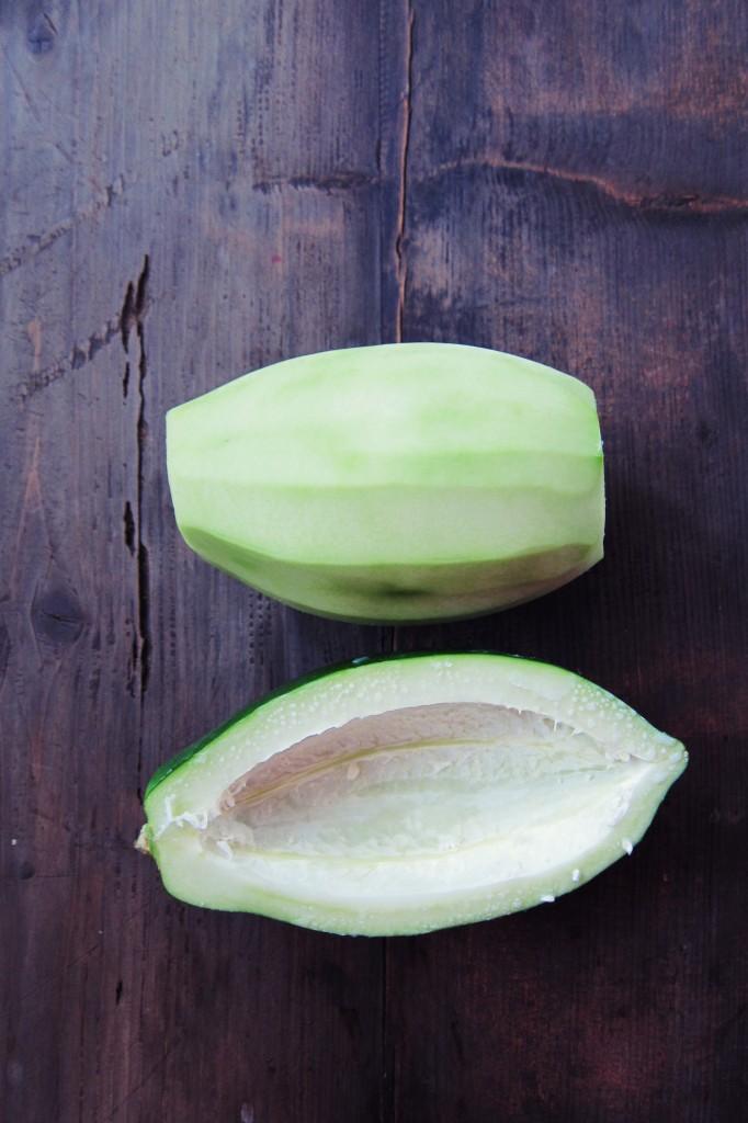 papaya verde pelada